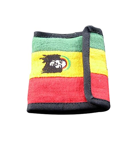 RaanPahMuang Hemp Wallet with Rasta Colours and Bob Marley (Rasta Hemp)