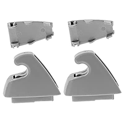 2Pcs Plastic Sun Visor Support Clip Gray for 2007-2013 Chevy Silverado Tahoe GMC Sierra Yukon 15882854: Automotive