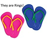 Oasis Supply Colorful Flip Flop Cupcake Decorating Topper Rings, 24 count