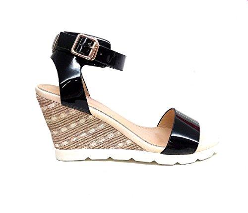Femme Gq5sw8f Mode My À Noir Sandales Oh Shop La ARj54L