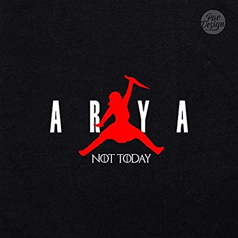 PacDesign T-Shirt Donna Game of Thrones Arya Stark Not Today Got 8 Il Trono di Spade Serie TV PD1575A