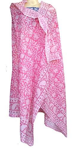Cotton Print Wrap - Rastogi Handicrafts 100% Cotton Hand Block Print Sarong Womens Swimsuit Wrap Cover Up Long (73