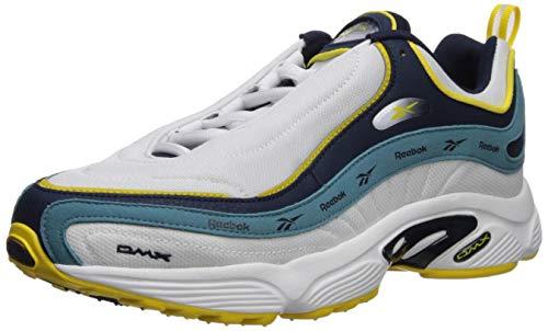 Reebok Daytona DMX Vector Sneaker, White/Collegiate Navy/Mineral Mist/go Yellow, 7.5 M US