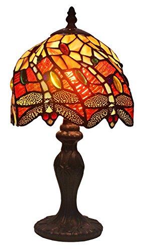 - Amora Lighting Tiffany Style AM064TL08 14.5-inch Dragonfly Mini Table Lamp