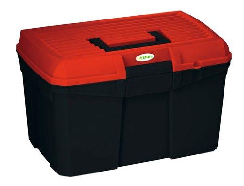 Kerbl 321759 Putzbox Siena mit herausnehmbaren Einsatz, schwarz / rot