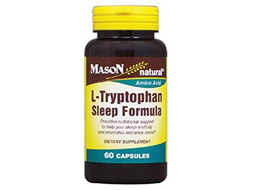Bottle Formula Capsules 60 Count (Mason Natural L-Tryptophan Sleep Formula Capsules, 60-Count Bottle)