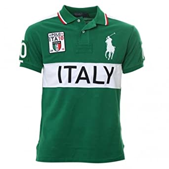 reputable site d97f7 34af0 Polo Ralph Lauren Italia 10 Polo Shirt Green: Amazon.co.uk ...