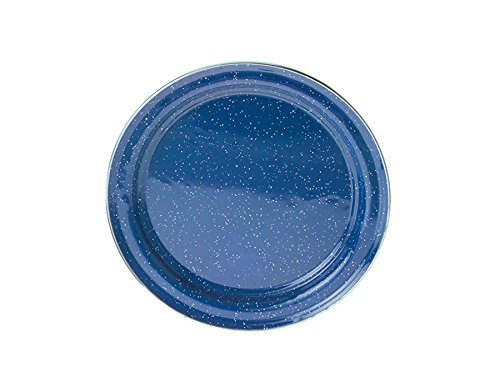 GSI Outdoors Stainless Steel Rim Blue Graniteware Salad Plate, 31522