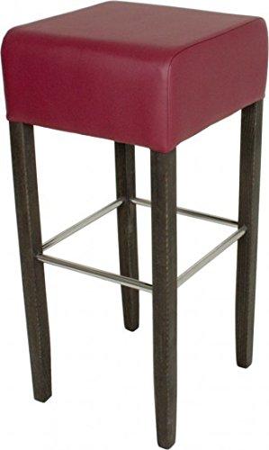 Barhocker Simon [ 2er Set] Farbe (Sitz): Bordeaux