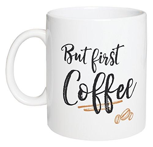 But First Coffee Design White 15 Ounce Ceramic Coffee (1st Coffee Mug)