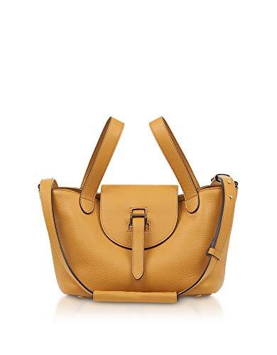 03164 Orange Leather Handbag ()