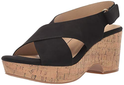 Chunky Cork Heels - CL by Chinese Laundry Women's Chosen Wedge Sandal, Black Nubuck, 7 M US