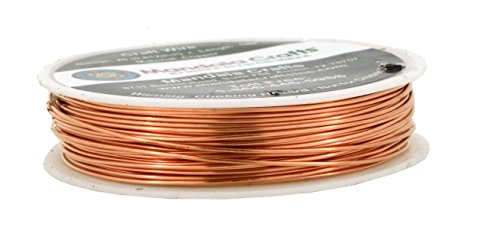 Mandala Crafts Thin Copper Wire for Jewelry Making, Sculpting, Weaving, Hobby, Gem Metal Wrap; Soft and Bendable; 1 Spool (20 Gauge 14M, Bare Copper)