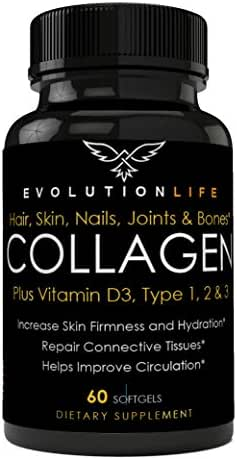Revolutionary Collagen Pills Type I, II and III for Men & Women Formulated to Enhance Healthy Hair, Skin & Nails
