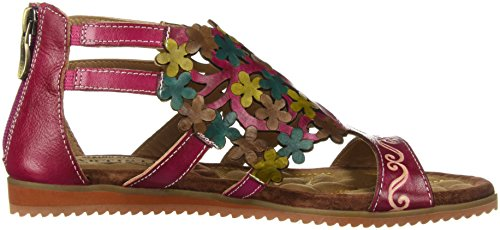 Fuchsia Sandals Step by L'Artiste Maribel Women's Spring ZqXYnwPS