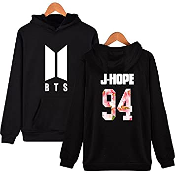 Amazon.com : HelloTem BTS Sweatshirt Hoodie Unisex Women Men Pullover JIN SUGA Jimin V Logo Printed Coat : Sports & Outdoors