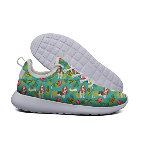 Lightweight Womens Running Soft Hoohle Roshe design cactus Flex Hawaiian Mesh Hound art Road 1 Basset Shoes Sports 2 pBnwqw75zx