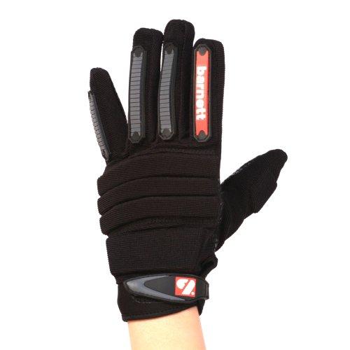 FLG-02 American Football Handschuhe Linemen new fit, OL,DL Schwarz barnett (L)