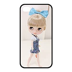 Cute Baby Doll Personalized Custom Phone Case For iPhone 4 4S TPU Rubber Case Cover Skin