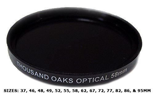 Threaded Black Polymer Solar Filter for Cameras, 67mm by Thousand Oaks Optical