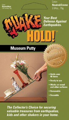 Quakehold Museum Putty (QuakeHOLD Anchoring Putty by Quakehold!)