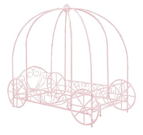 DHP Metal Carriage Bed, Fairy Tale Bed Frame, Shabby-Chic Style, Twin, Pink by DHP