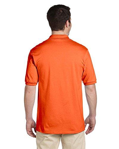 Jerzees Men's 2 Button Knit Collar Polo Shirt, Safety Orange, X-Large ()