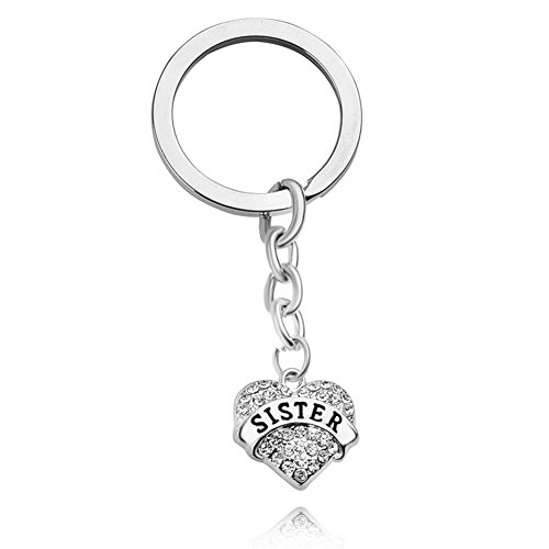 Sister Gifts Big Middle Little Sister Love Heart Pendant Key Chain Ring Family Member Jewelry Gift for (Little Gifts Keychain)