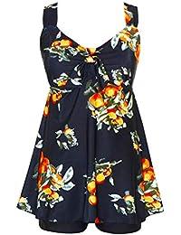 0d5b438bee Women's Plus Size Swimwear Two Piece Swimsuit Pin up Tummy Control Tankini  Swimdress