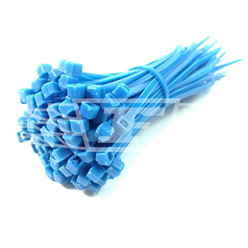 UK Manufactured DISCOUNTED 100 PURPLE CABLE TIES 300mm X 4.8mm