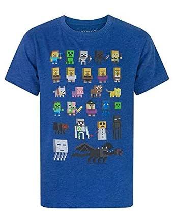 Vanilla Underground Minecraft Sprites Boys Blue T-Shirt, Blue, 5-6 Years