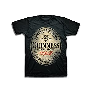 Guinness Mens Beer Label Shirt – The Irish Stout Brewery Logo Shirt Graphic Shirt