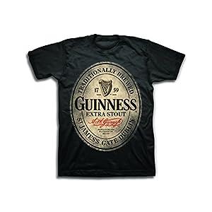 Guinness Mens Beer Label Shirt – The Irish Stout Brewery Logo Shirt Graphic Shirt