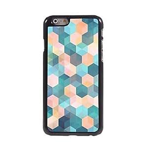 FJM Color Dreamlike Lattice Pattern Aluminum Hard Case for iPhone 6 Plus