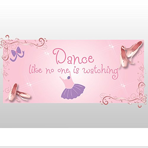 Bloom Kids Shoes (Bugs-n-Blooms Dance Like No One Is Watching Pink Dancing Dancer Ballerina Ballet Slipper Shoes Removable Vinyl Wall Stickers Girls Room Baby Nursery Sayings Quote Sports Decor Decal Kids Graphics Art)