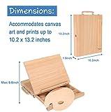 Adjustable Wood Desk Table Easel with Storage