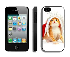 2014 Latest Christmas Cat iPhone 4 4S Case 48 Black