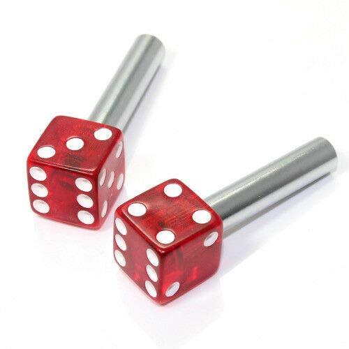 - EveryPossible 2 Clear Dice Interior Door Lock Knobs Pins for Car-Truck-Hotrod-Classic (Red)