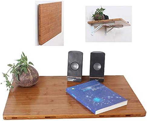 Mesa grande montada en la pared, mesa plegable de grano de madera ...