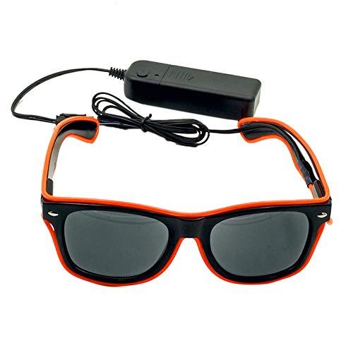 lecimo LED Luminous Glasses,Dancing Party Bar Meeting Glow Rave Costume Atmosphere Activing DJ Bright -