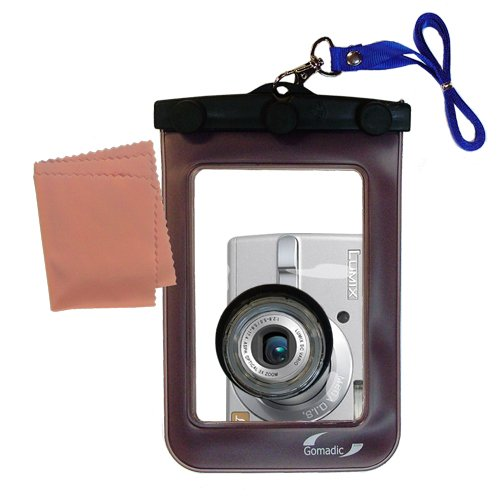 Gomadic Waterproof Camera Protective Bag suitable for the Panasonic Lumix DMC-LS70 S - Unique Floating Design Keeps Camera Clean and Dry