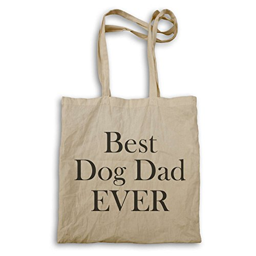 Best Dog Dad Ever In Schwarz Neuheit Tragetasche ii12r