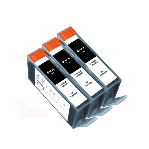 Sophia Global Compatible Ink Cartridge Replacement for HP 564XL (3 Black)