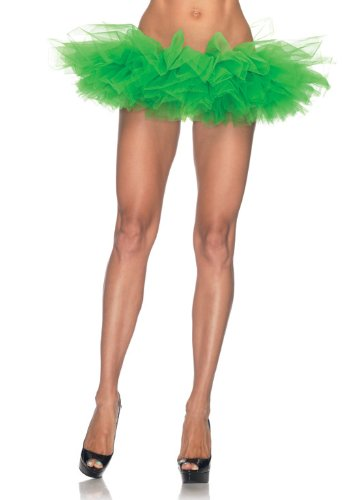 Leg Avenue Women's Organza Tutu, Kelly Green, One -
