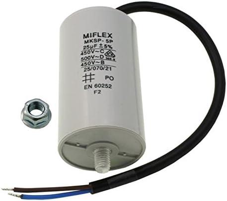 Condensateur de démarrage moteur Condensateur 35µf 450v 50x83mm connecteur m8; Miflex; 35uf