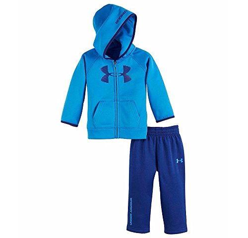 Under Armour Baby Boys 2 Piece Big Logo Hoodie And Pants Set (Ultra Blue (27B92011-41) / Black/Ultra Blue, 0-3 Months) by Under Armour