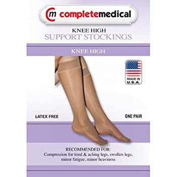 Ladies' Firm Support Sheer Knee High Stockings Size: Extra Large, Color: Black