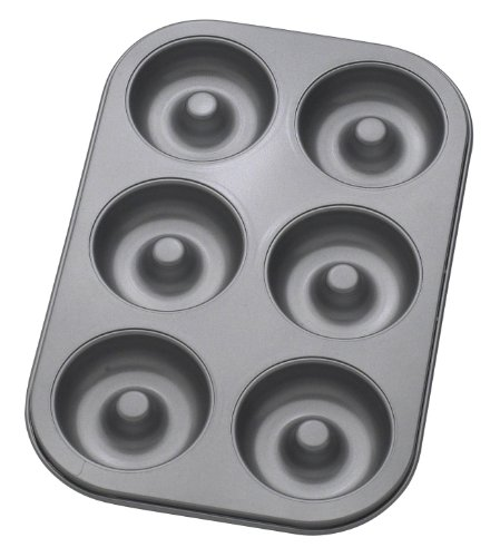 Mrs. Anderson's Baking 43710 6-Cup Donut Pan, Carbon Steel with Quick-Release Non-Stick (Hole Bake Pan)