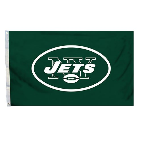 New York Jets Memorabilia - NFL New York Jets Logo Flag with Grommets, 3 x 5-Foot