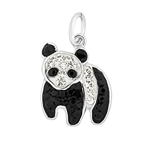 Charms with Swarovski Crystals, Animal Nature Theme Sterling Silver Jewelry by Silver on the Rocks